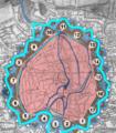 Okerumflut Braunschweig 1765 heute (Bastionszählweise Sack).png