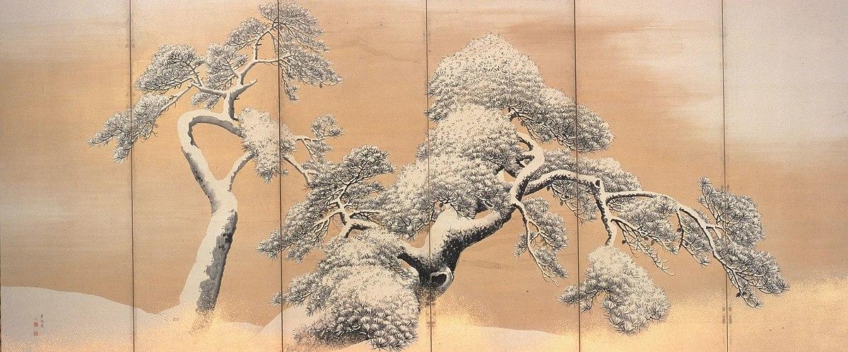 雪松図(国宝)三井記念美術館