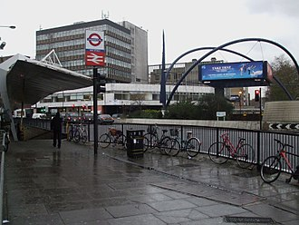 Old Street station - View of the station from the southeast