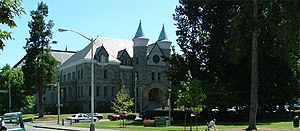 Olympia, Washington - Old State Capitol Building and Sylvester Park