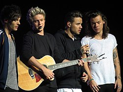 von links: Louis Tomlinson, Niall Horan, Liam Payne und Harry Styles