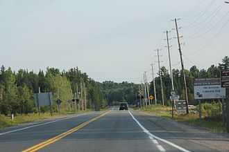 Ontario Highway 6 - Looking south from the northern terminus of ON6