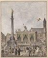 Onthuldiging van den Keyzer Jozef II - 4 januari 1790, Aquarel August Van Den Eynde (Inv. nr. IC AG L125 123 U).jpg