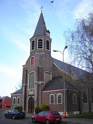 Oostakker - Image: Oostakker Sint Amanduskerk 2