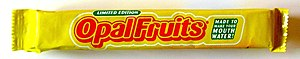 Starburst (confectionery) - The UK 'Opal Fruits' limited edition branding