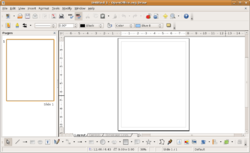 Screenshot of OpenOffice.org Draw