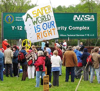 Y-12 National Security Complex - April 2011 OREPA rally at the Y-12 entrance