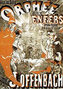 Poster for the performance of the second version of the work in 1874 in the Théâtre de la Gaîté