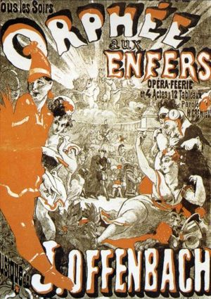 1858 in music - Poster for a revival of Offenbach's 1858 Orphée Aux Enfers
