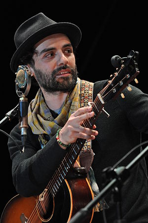 Guatemalan Americans - Oscar Isaac performing at Universidad Francisco Marroquín, February 2015.