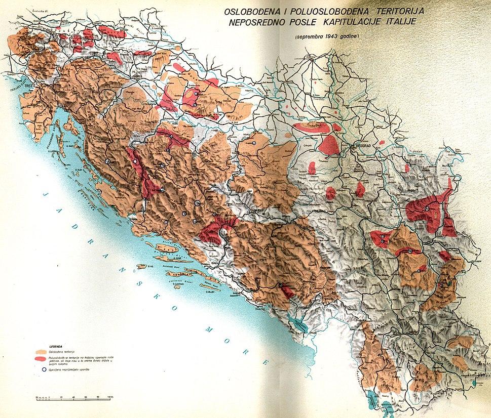 Oslobođena teritorija septembra 1943
