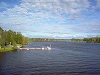Oulujoki river at Laanila, Oulu.jpg