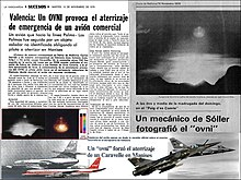 It is a photomontage with newspaper clippings of the Case Ovni de Manises found for the first time in the web planetaincognito.es, portal under license BY-NC-ND of Creative Commons 3.0