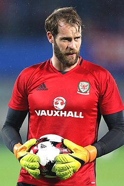 Owain Fôn Williams playing for Wales vs Austria 01.jpg