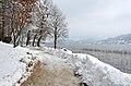 Pörtschach Halbinselpromenade Aussichtspunkt am Landspitz 04022014 3604.jpg