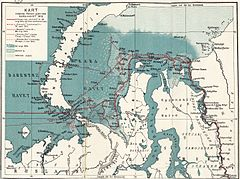 P509 Map of the Kara Sea and adjoining territories, showing the track of The Correct and the ice conditions.jpg