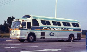 Voyageur Colonial Bus Lines - A Colonial Coach Lines bus in 1968