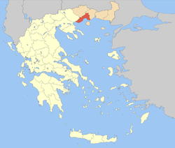 Kavala within Greece