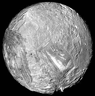 Miranda (moon) smallest of the large moons of Uranus