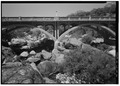 PUMPKIN HOLLOW BRIDGE ACROSS KAWEAH RIVER, FACING NORTH NORTHWEST - Generals Highway, Three Rivers, Tulare County, CA HAER CAL,54-THRIV.V,2-33.tif