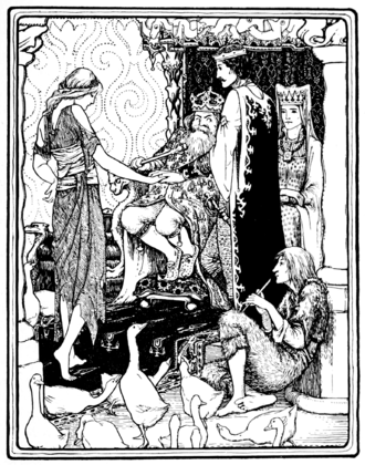 Tattercoats - Image: Page facing 64 illustration in More English Fairy Tales