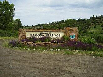 Pagosa Springs, Colorado - Sign for Pagosa Springs