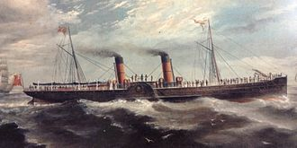 SS Mona's Queen (1885) - Painting of Mona's Queen.