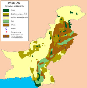 Agriculture in Pakistan - Agriculture and land use in Pakistan. (Only major crops)