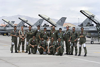 The PAF's fighter pilots with the greenish g-suit in comparison to USAF.