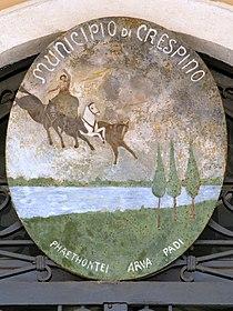 Palazzo Comunale, coat of arms (Crespino).jpg