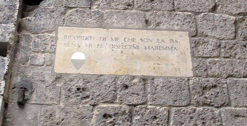 File:Palazzo tolomei, si, targa pia de' tolomei.JPG