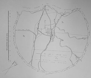 Elgin, Western Cape - Early map of the farms around the Palmiet River, Elgin