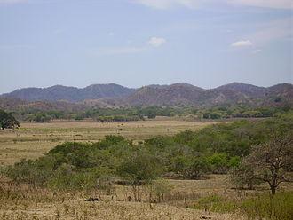 Deforestation in Costa Rica - Bare land in Guanacasteca.