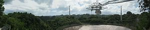 Arecibo Observatory - Image: Panorama arecibo telescope from observation deck