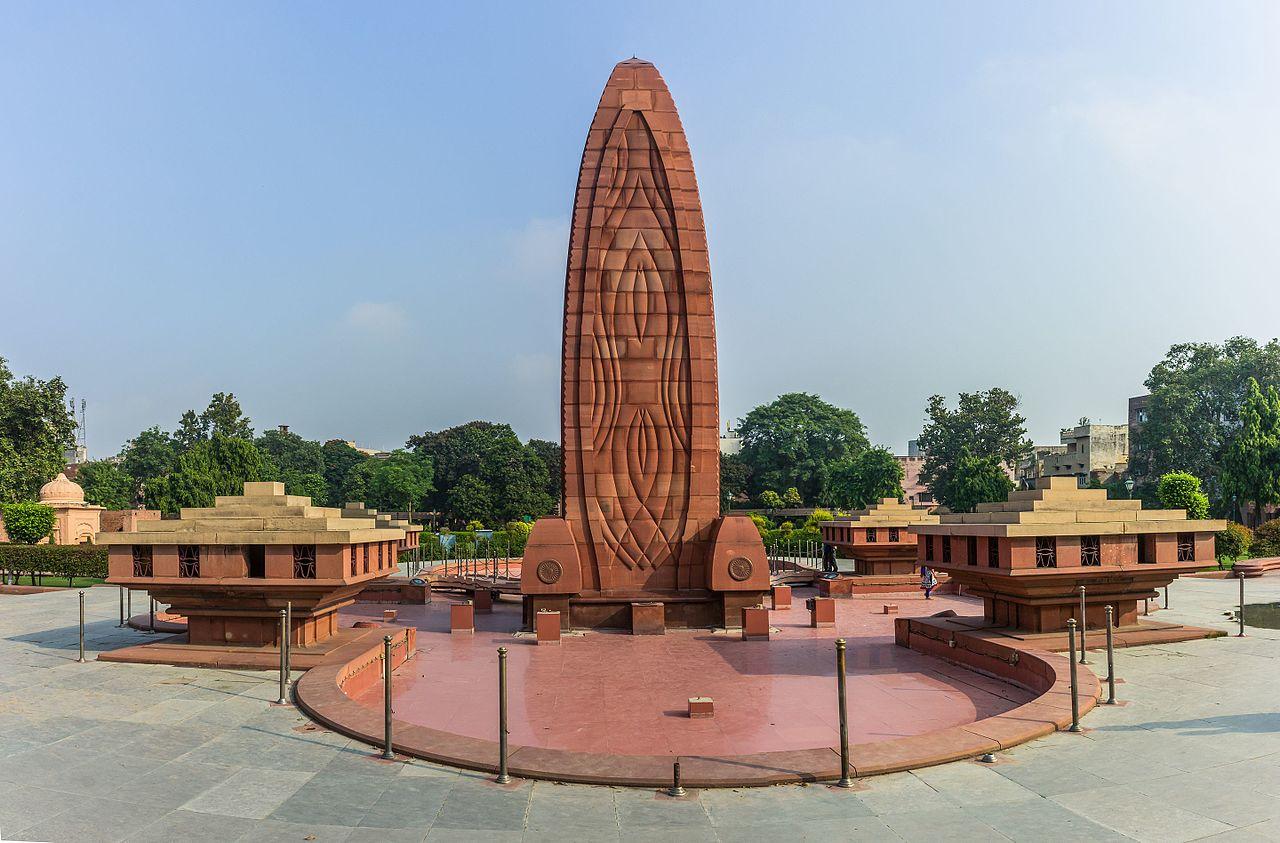 Monumento en memoria de la masacre de Amritsar (India).