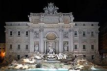 Photographie de la Fontaine de Trevi de Rome