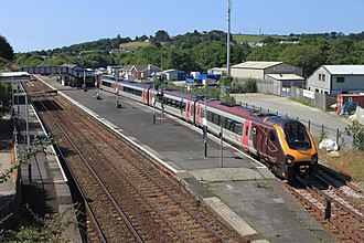 British Rail Class 220 - CrossCountry 220030-220027 at Par in 2014