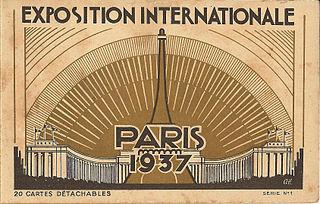 Exposition Internationale des Arts et Techniques dans la Vie Moderne exhibition held in Paris in 1937