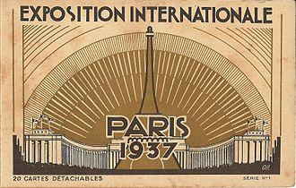 Exposition Internationale des Arts et Techniques dans la Vie Moderne - Image: Paris Expo 1937 carte postale 00