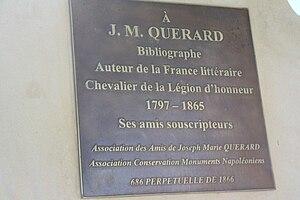Joseph-Marie Quérard - Tombe of Joseph-Marie Quérard in Montparnasse cemetery in Paris