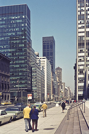 Lever House - Image: Park Avenue at 53rd Street Newyork 1973 15