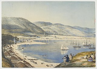 Part of Lambton Harbour, in Port Nicholson, New Zealand, Comprehending about one third of the water frontage of the town of Wellington.