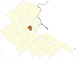 location of Hurlingham partido in Gran Buenos Aires