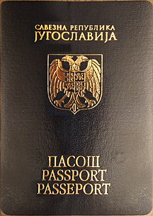 Serbia and Montenegro-Transport-Passport of the Federal Republic of Yugoslavia