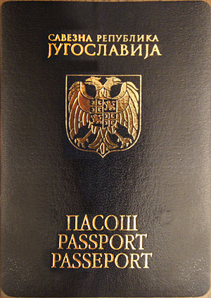 Identity cleansing - Passport of the Federal Republic of Yugoslavia.