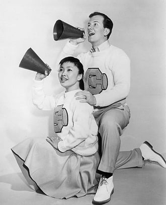 Pat Suzuki - Pat Suzuki with the host on The Pat Boone Chevy Showroom in 1959