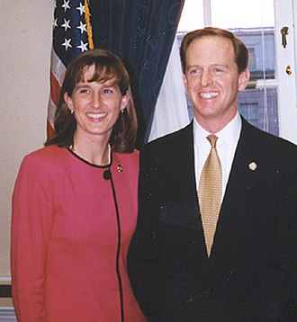 Pat Toomey - Pat and his wife Kris Toomey in 1999