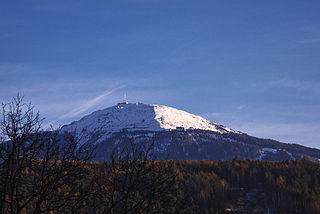 Tux Alps mountain range
