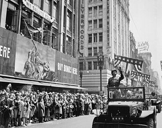 George Patton during a welcome home parade in Los Angeles, June 9, 1945 Patton during a welcome home parade in Los Angeles, June 9, 1945.jpg