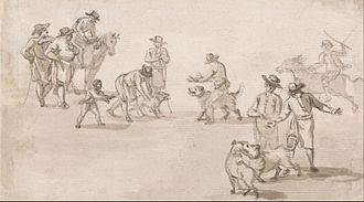 Dog fighting - A dogfight, c. 1785